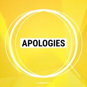 Apologies